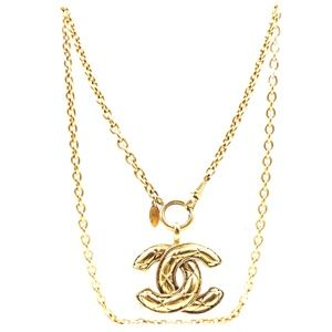 Cc Timeless Quilted Long Chain Necklace